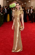 ANNE HATHAWAY at MET Gala 2015 in New York