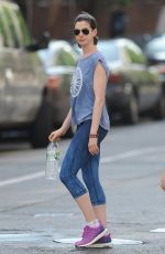 ANNE HATHAWAY at Workout Session in New York 05/19/2015