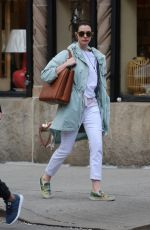 ANNE HATHAWAY Out and About in New York 05/01/2015