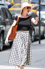 ANNE HATHAWAY Out and About in New York 05/10/2015