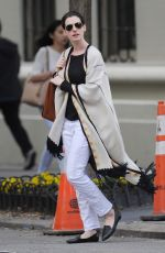 ANNE HATHAWAY Out in New York 05/15/2015