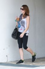 ASHLEY GREENE in Leggings Leaves a Gym in West Hollywood 05/30/2015