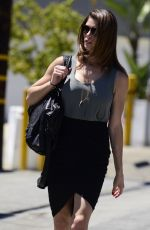 ASHLEY GREENE Oit and About in Los Angeles 04/26/2015