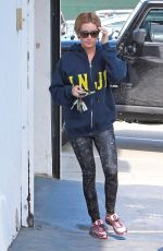 ASHLEY TISDALE Leaves Gym Class in Los Angeles 05/15/2015