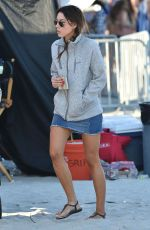 AUBREY PLAZA on the Set of Dirty Grandpa in Georgia 04/30/2015