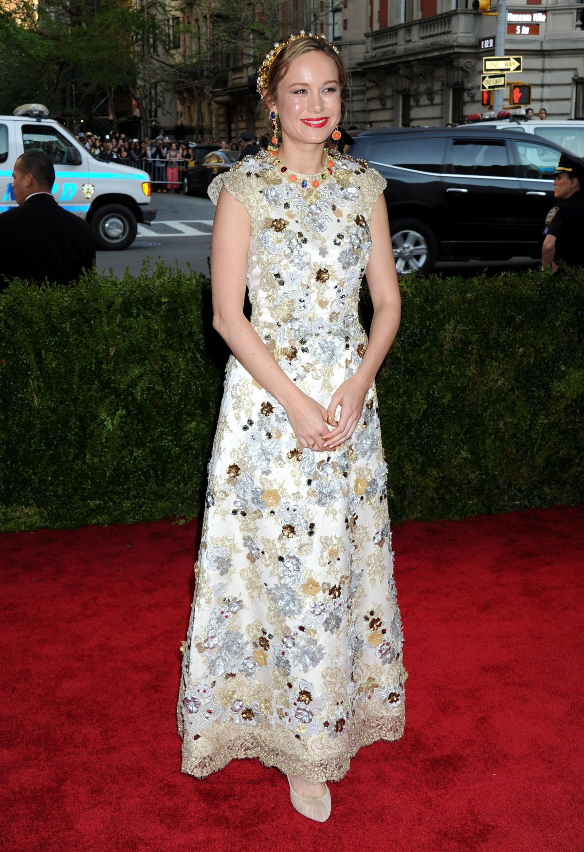 BRIE LARSON at MET Gala 2015 in New York