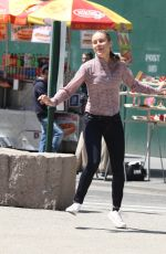 BRIE LARSON on the Set of Basmati Blues in New York