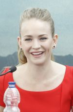 BRITT ROBERTSON at Tomorrowland Photocall in Valencia
