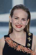 BRITT ROBERTSON at Tomorrowland Premiere in Valencia