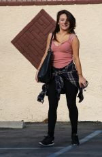 BRITTANY CHERRY Arrives at Dancing with the Stars in Hollywood 04/30/2015