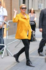 BRITTANY SNOW Leaves The View in New York