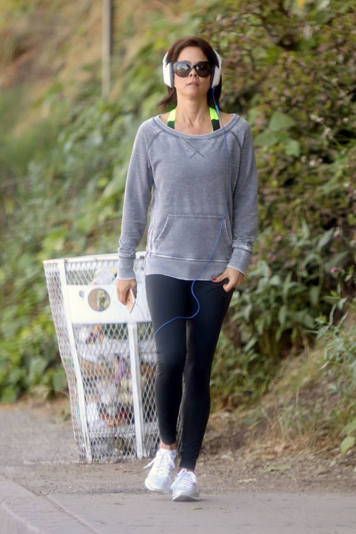 BROOKE BURKE Out for a Walk in Santa Monica 04/06/2015