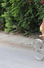 BROOKE BURKE Riding a Bike Out in Malibu 05/26/2015