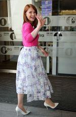 BRYCE DALLAS HOWARD Arrives at BBC Radio 2 Studio in London 05/28/2015