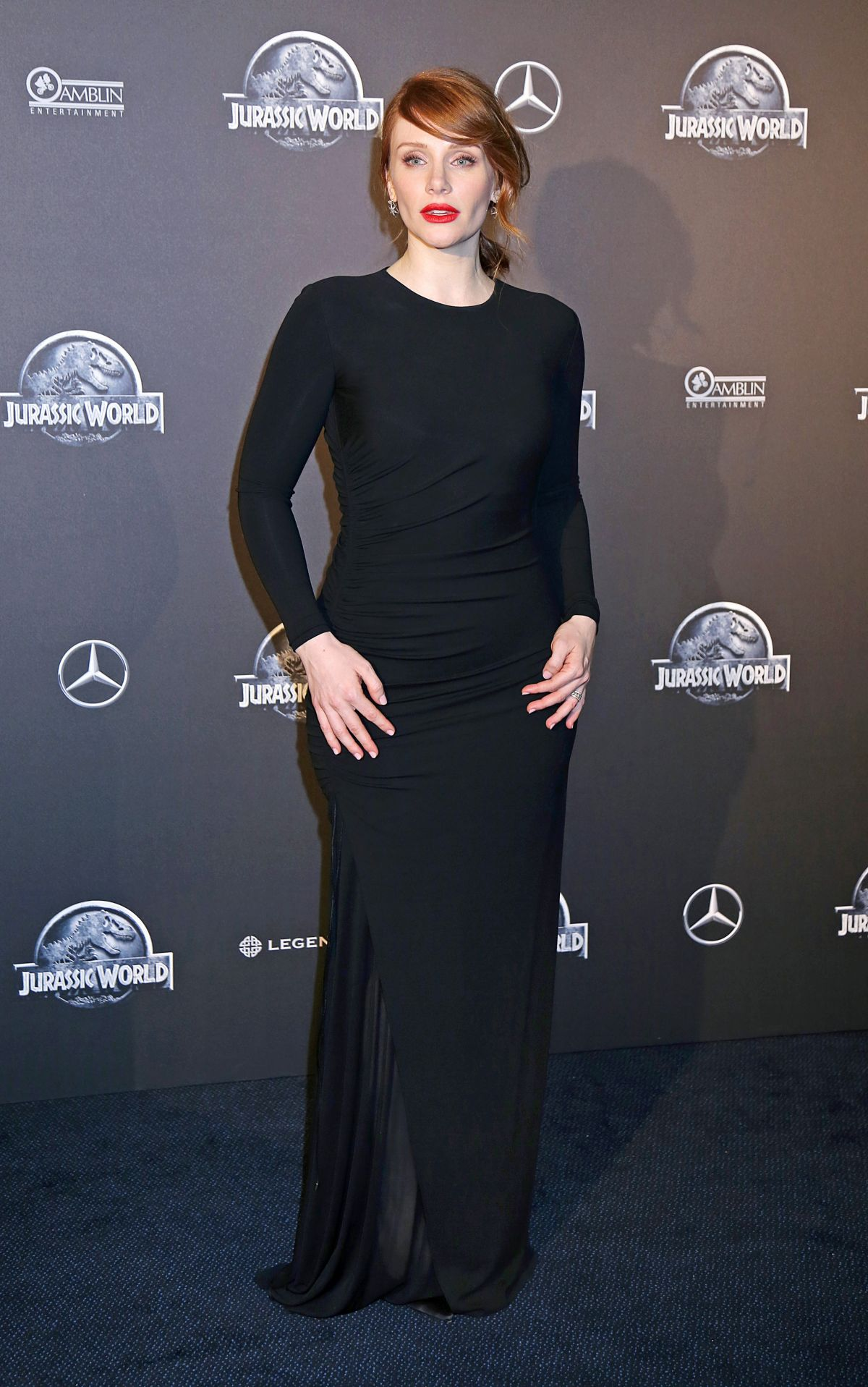 BRYCE DALLAS HOWARD at Jurassic World Premiere in Paris