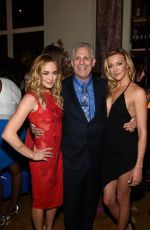 CAITY LOTZ and KATIE CASSIDY at 2015 CW Upfront Party in New York