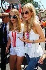 CARA and POPPY DELEVINGNE at 2015 Monaco Grand Prix in Monte Carlo