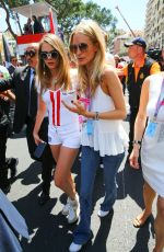 CARA and POPPY DELEVINGNE at 2015 Monaco Grand Prix in Monte Carlo
