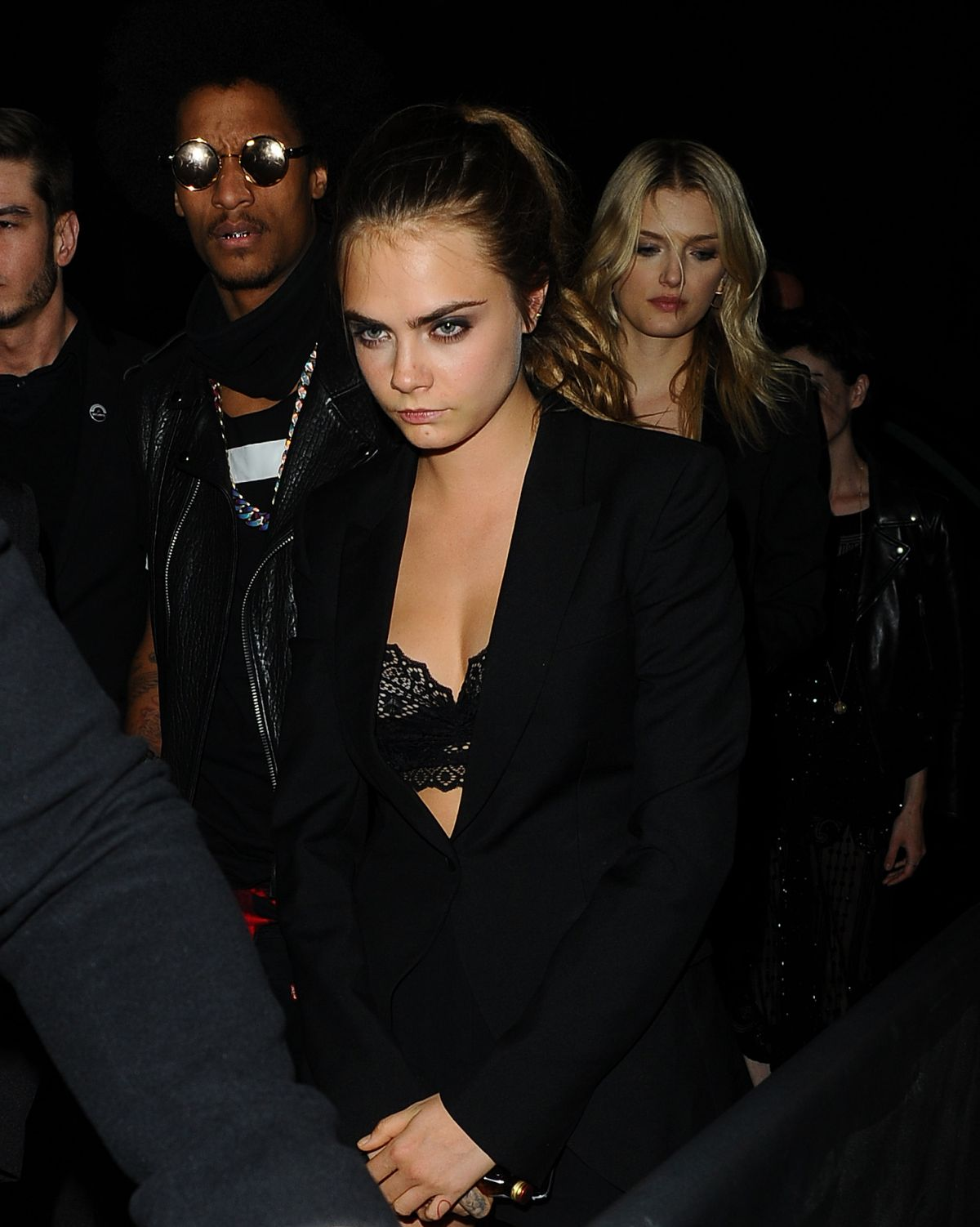 CARA DELEVINGNE Arrives at Gotham Nightclub in Cannes 5/21/15