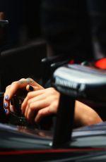 CARA DELEVINGNE at McLaren Honda Garage in Pitlane at Monaco Formula One Grand Prix