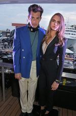 CARA DELEVINGNE at TAG Heuer Formula 1 Party in Monaco