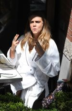 CARA DELEVINGNE on the Set of a Photoshoot in Toronto 05/16/2015