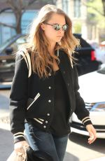 CARA DELEVINGNE Out and About in New York 05/03/2015