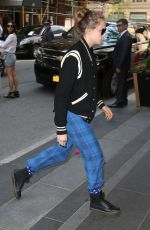 CARA DELEVINGNE Out and About in New York 05/04/2015