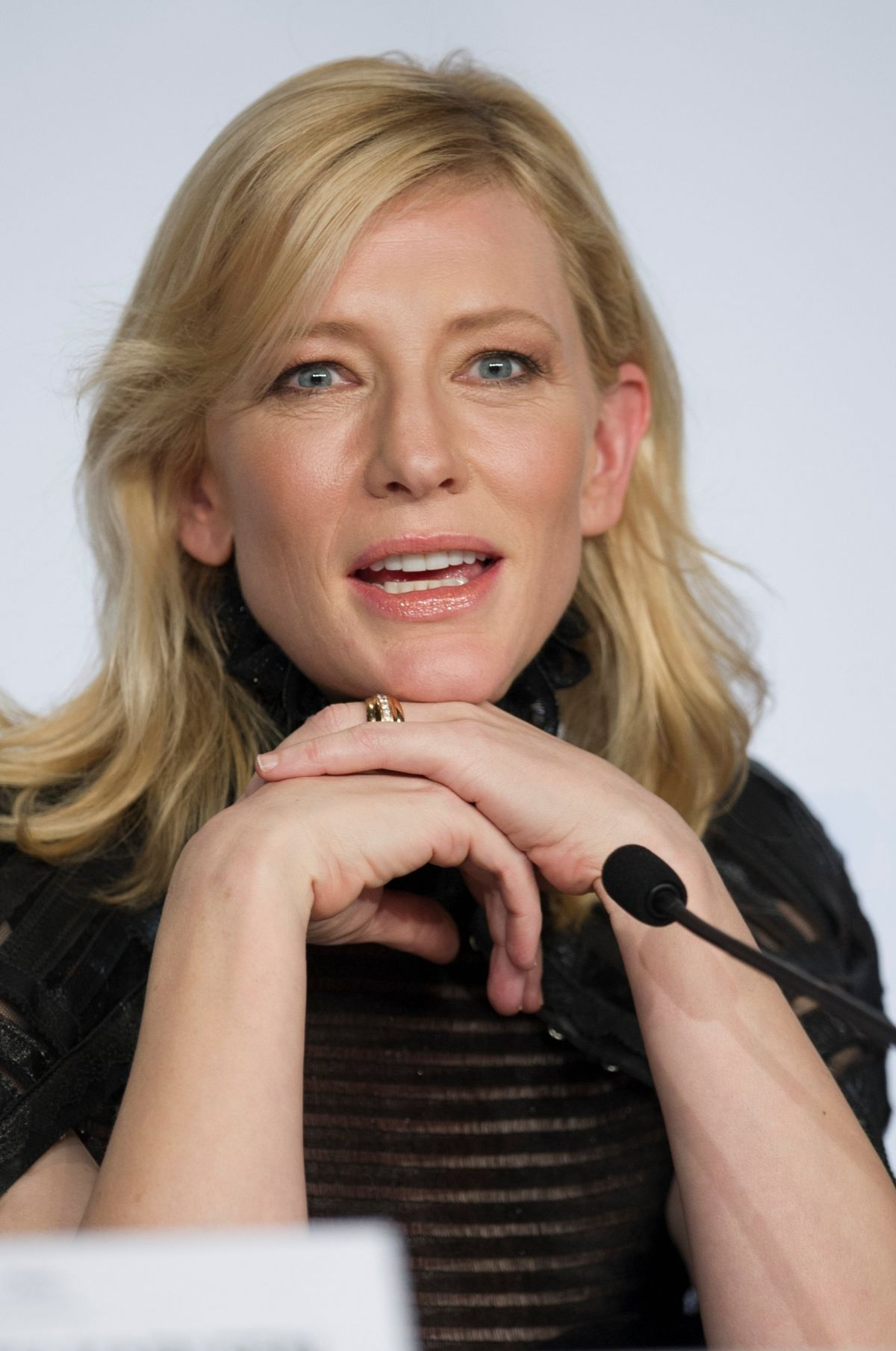CATE BLANCHETT at Carol Press Conference at Cannes Film Festival ...