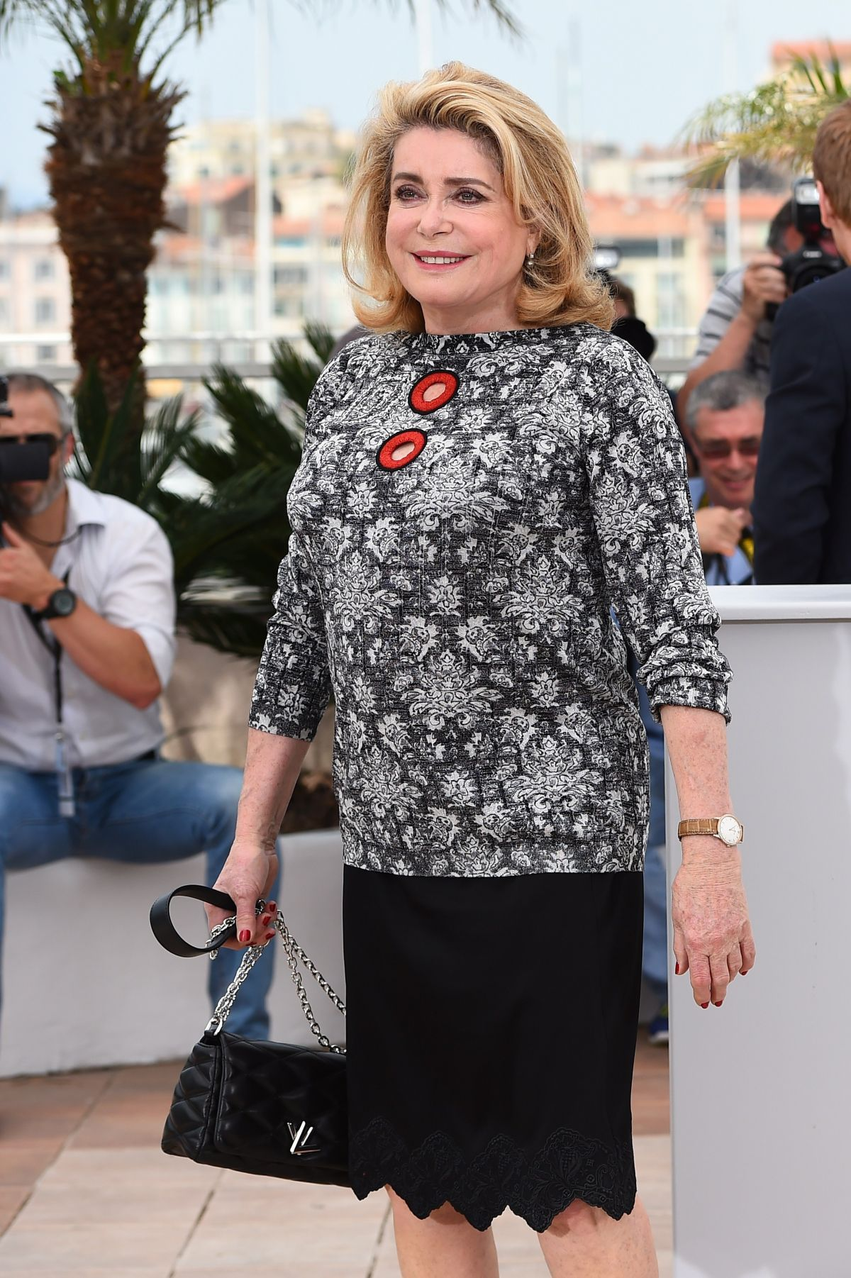 CATHERINE DENEUVE at La Tete Haute Photocall at 2015 Cannes Film Festival