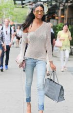 CHANEL IMAN in Jeans Out in New York 05/05/2015