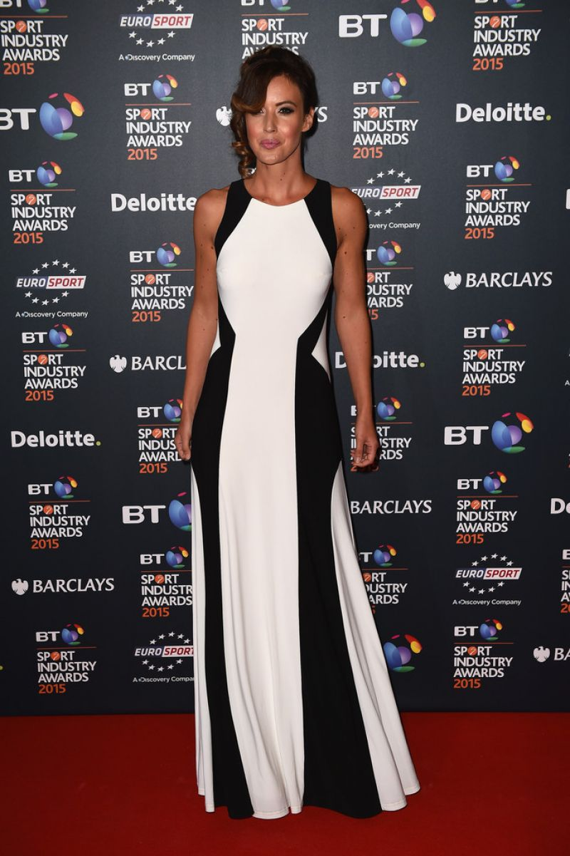 CHARLIE WEBSTER at 2015 BT Sport Industry Awards in London