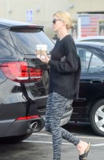 CHARLIZE THERON Out for Coffee in Hollywood 05/21/2015