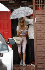 CHARLOTTE MCKINNEY at DWTS Rehearsals in Los Angeles 05/14/2015