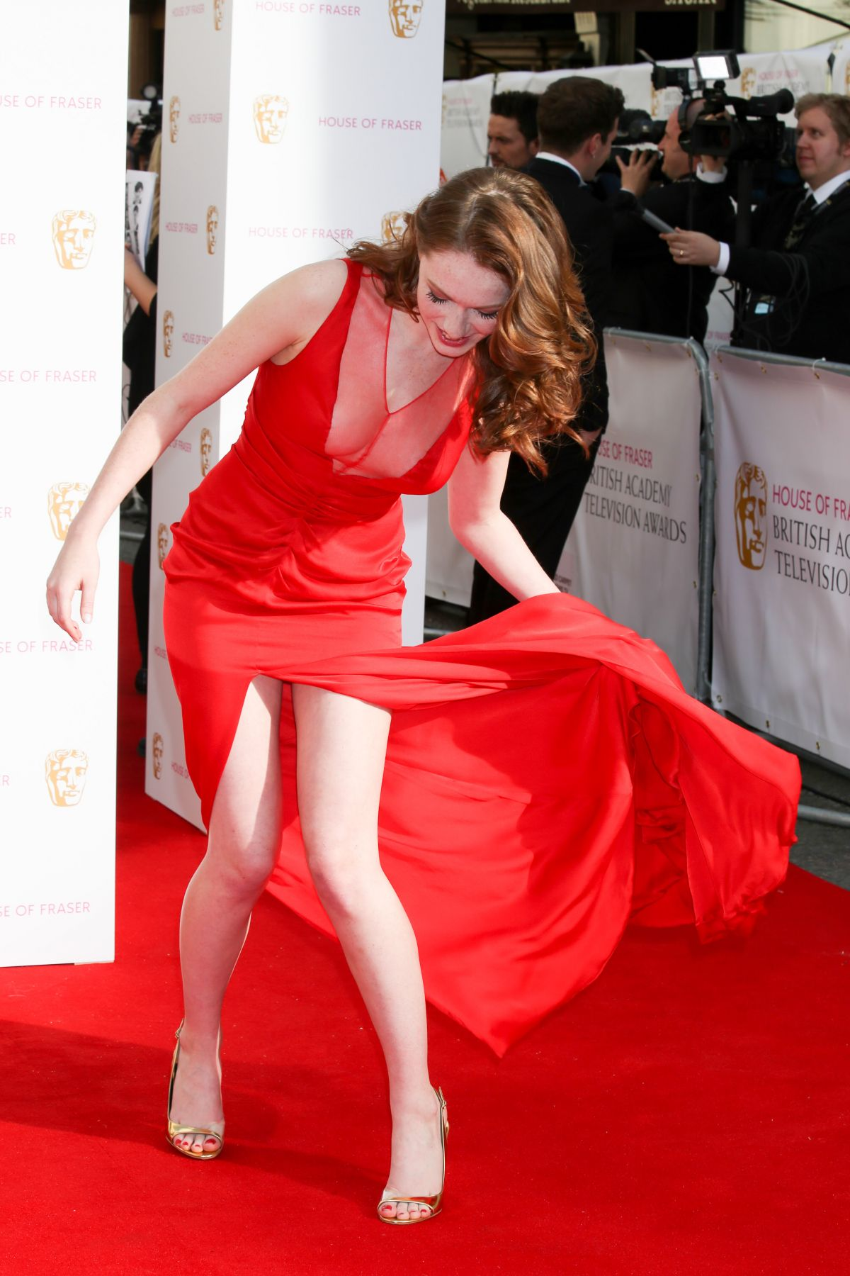 CHARLOTTE SPENCER at BAFTA 2015 Awards in London
