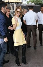 CHERYL COLE Arrives at Grand Hyatt Cannes Hotel Martinez