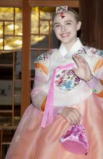 CHLOE MORETA in a Traditional Dress in South Korea