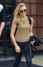 CHLOE MORETZ Leaves Bowery Hotel in New York 05/05/2015