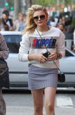 CHLOE MORETZ Out and About in New York 05/03/2015