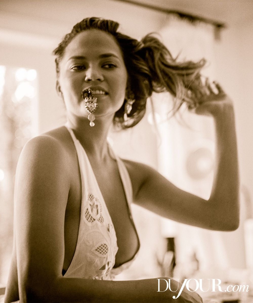 CHRISSY TEIGEN in Dujour Magazine, Summer 2015 Issue