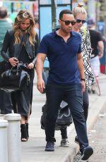 CHRISSY TEIGEN Leaves a Restaurant in New York 05/05/2015