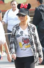 CHRISTINA AGUILERA at Disneyland in Anaheim 05/16/2015