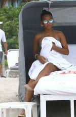CHRISTINA MILIAN in Bikini at a Beach in Miami 05/15/2015