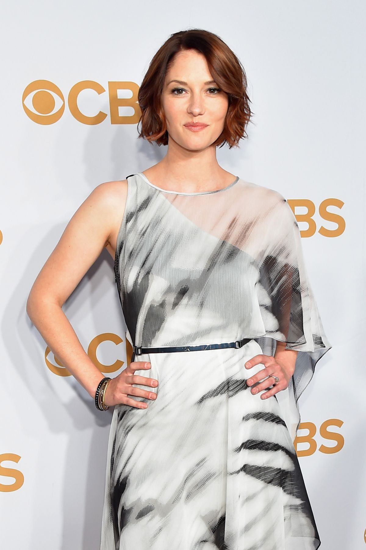 CHYLER LEIGH at 2015 CBS Upfront in New York