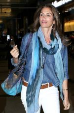 CINDY CRAWFORD Arrives at Los Angeles International Airport 05/22/2015