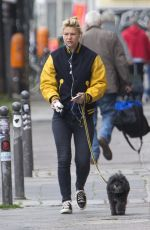 CLAIRE DANES Walks Her Dog Out in Berlin 05/27/2015