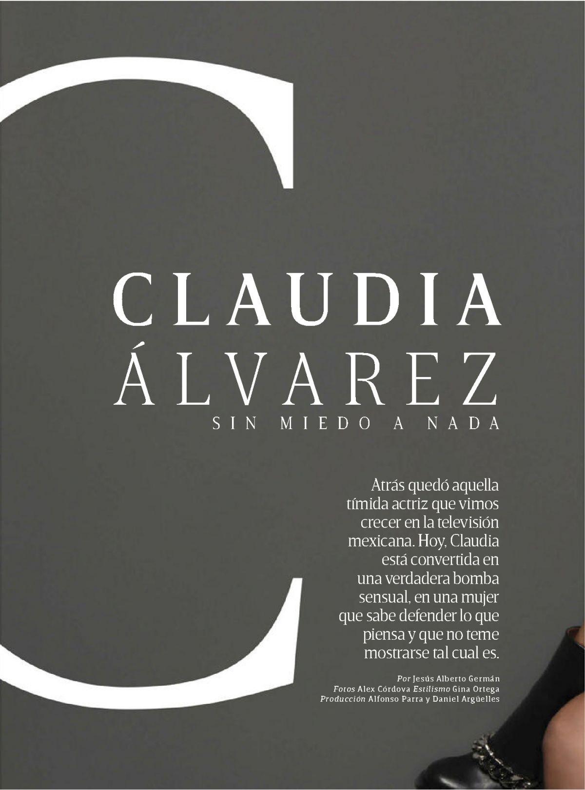CLAUDIA ALVAREZ in GQ Magazine, Mexico May 2015 Issue - HawtCelebs