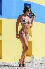 CLAUDIA ROMANI in Bikini on the of a Photoshoot in Miami Beach 05/24/2015