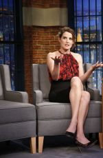 COBIE SMULDERS at Late Night with Seth Meyers in New York