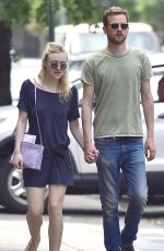 DAKOTA FANNING and Jamie Strachan Out in New York 05/28/2015